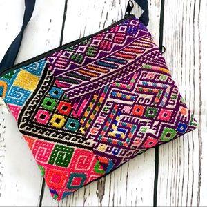 Boho embroidered festival mini blanket bag purse